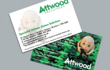 Attwood Solicitors Military Negligence Business Card