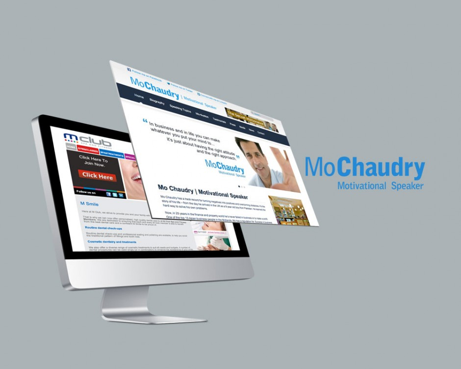 An updated website design for Mo Chaudry