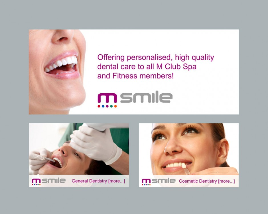 M-Smile branding for M-Club Spa and Fitness